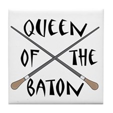 King or Queen Of The Baton Tile Coaster