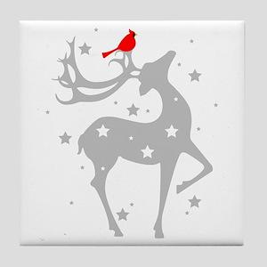 Winter Reindeer Tile Coaster