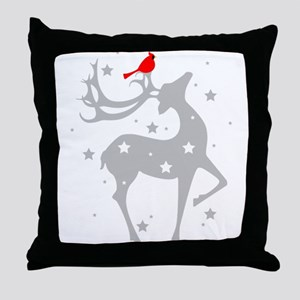Winter Reindeer Throw Pillow