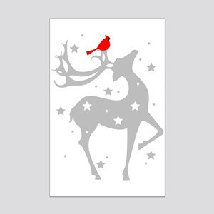 Winter Reindeer Mini Poster Print