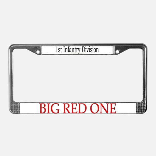 1ST INF DIV License Plate Frame