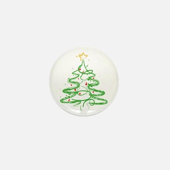 Christmas Tree Mini Button