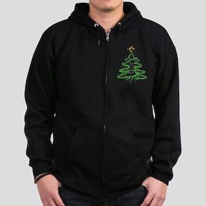 Christmas Tree Zip Hoodie (dark)