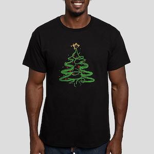Christmas Tree Men's Fitted T-Shirt (dark)
