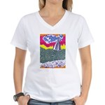 Lines on the Land - Land 1 Women's V-Neck T-Shirt