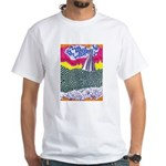 Lines on the Land - Land 1 White T-Shirt