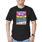 Lines on the Land - Land 1 Men's Fitted T-Shirt (d