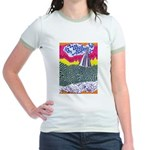 Lines on the Land - Land 1 Jr. Ringer T-Shirt