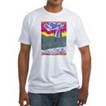 Lines on the Land - Land 1 Fitted T-Shirt