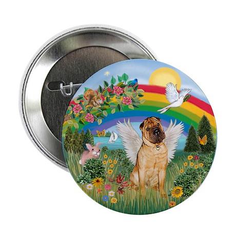 "Rainbow - Shar Pei 2 2.25"" Button"