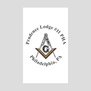 Masonic Lodge Rectangle Sticker