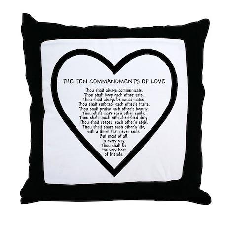 Ten Commandments of Love Throw Pillow
