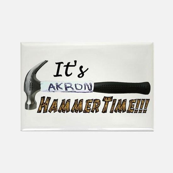 It's Akron HammerTime!!! Rectangle Magnet