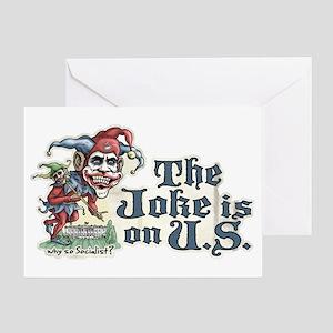Obama joker greeting cards cafepress anti obama joker greeting card m4hsunfo