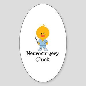 Neurosurgery Chick Oval Sticker