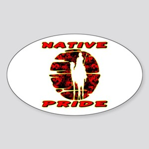 Native Pride #1002 Oval Sticker