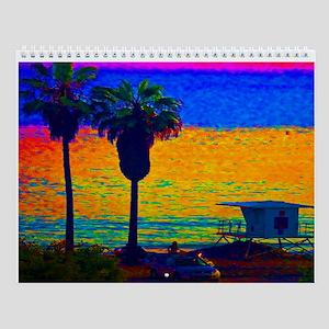 Beach Campground Wall Calendar