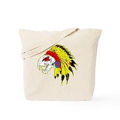 Skull Indian Headdress Tote Bag