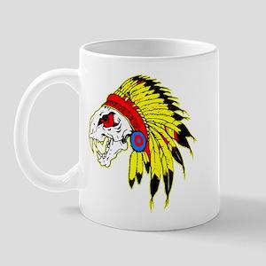 Skull Indian Headdress Mug