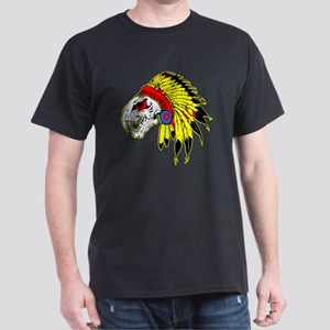 Skull Indian Headdress Dark T-Shirt