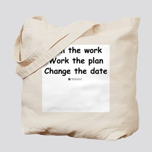 Plan the work -  Tote Bag