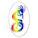 Unicycle Oval Sticker