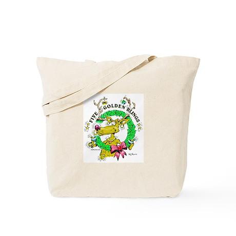 Five Golden Blings Tote Bag