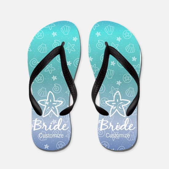 Seaside Bride Flip Flops