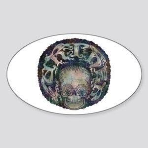 Further Skull Oval Sticker