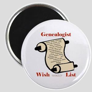 Genealogy Wish List Magnet
