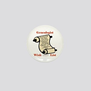 Genealogy Wish List Mini Button