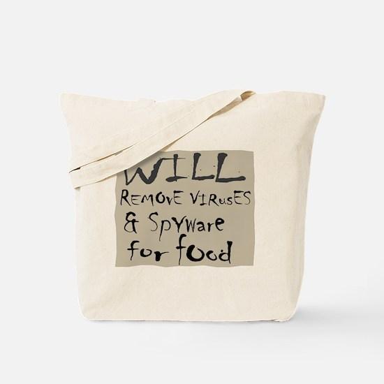 Homeless Techie Tote Bag