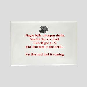 Santa's Dead Rectangle Magnet