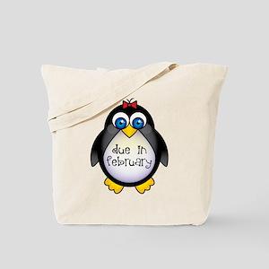 February Penguin Maternity Tote Bag
