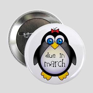 "Cute March Penguin Due Date 2.25"" Button"