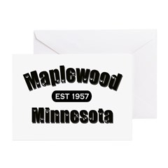 Maplewood Established 1957 Greeting Cards (Pk of 2