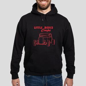 Hot Rod Ford Deuce Red Hoodie (dark)
