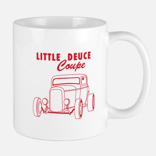 Hot Rod Ford Deuce Red Mug