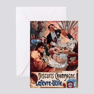 Alphonse Mucha Greeting Card