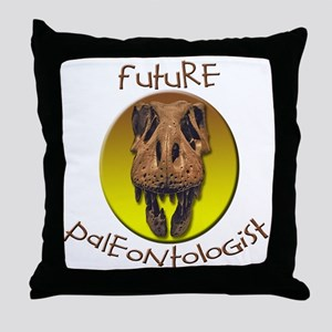 Future paleontologist Throw Pillow