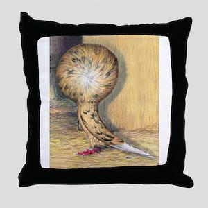 Almond Jacobin Pigeon Throw Pillow