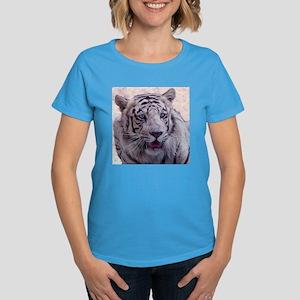White Tiger Women's Dark T-Shirt
