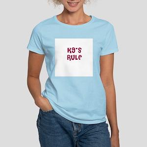 K9's RULE Women's Pink T-Shirt