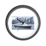 QE2 New York Final Departure Wall Clock