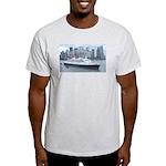 QE2 New York Final Departure Light T-Shirt