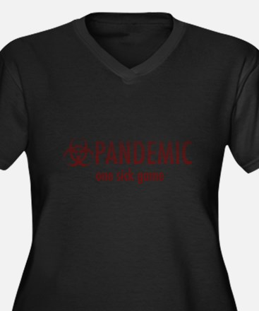 Unique Pandemic Women's Plus Size V-Neck Dark T-Shirt