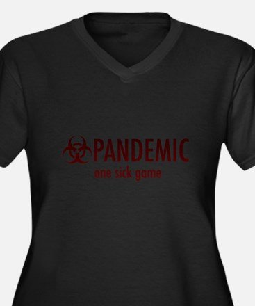 Funny Pandemic Women's Plus Size V-Neck Dark T-Shirt