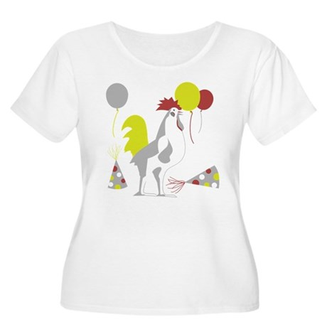 Party Foul/Fowl Women's Plus Size Scoop Neck T-Shi