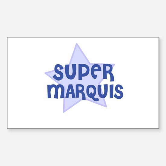 Super Marquis Rectangle Decal