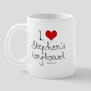 I Love Stephen's longboard -  Mug